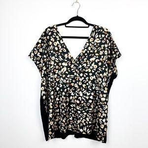 Addition Elle V-Neck Leopard Print Blouse